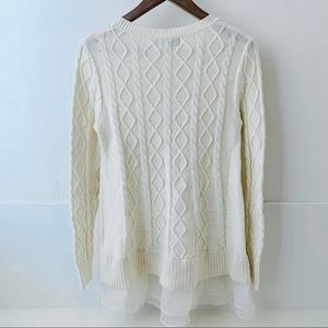 Military Hippie Sweaters - Military Hippie pale yellow sweater tulle Medium